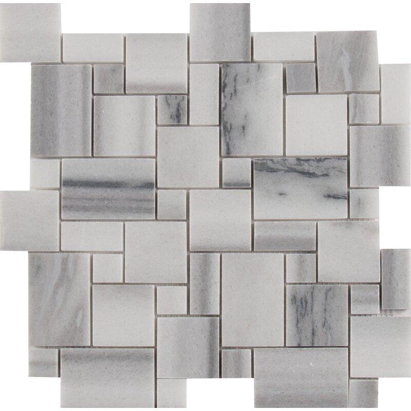 MSI Bergamo Magic Random Sized Marble Mosaic Tile In Gray Wayfair Mesmerizing Random Tile Pattern