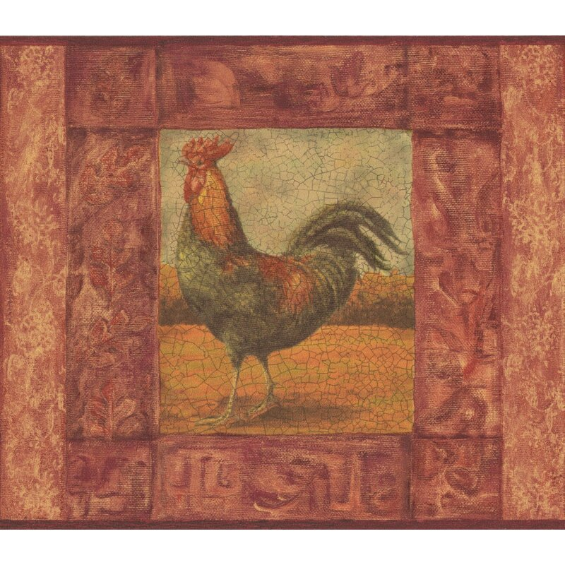 Douglas Cracked Frame Painting Of Rooster Vintage 15 L X 7 W Wildlife Wallpaper