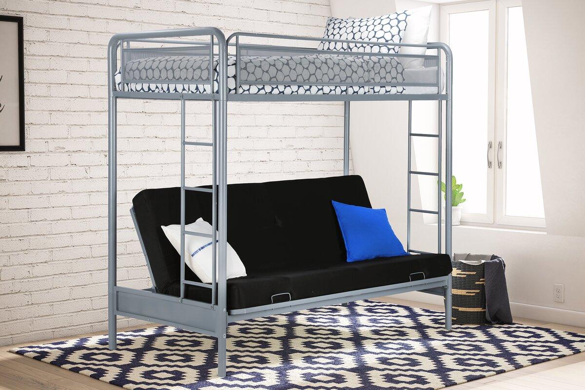 julian twin futon bunk bed viv   rae julian twin futon bunk bed  u0026 reviews   wayfair  rh   wayfair