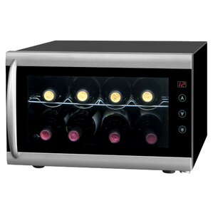 8 Bottle Single Zone Freestanding Wine Cooler by Sunpentown