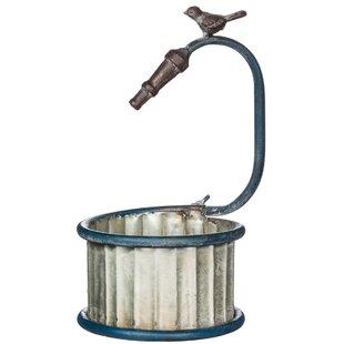 Charlebois Garden Hose Round Metal Pot Planter