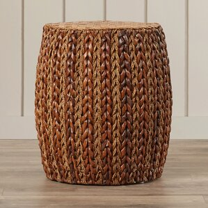 Tibouchina Woven Ottoman by Bay Isle Home