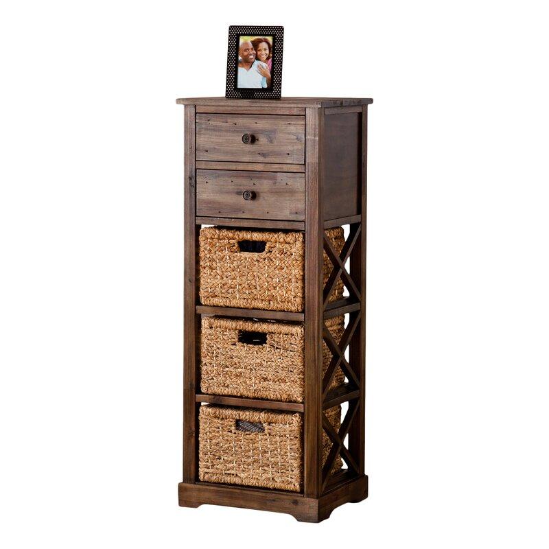 Childrens Animals Storage Box Chest 3 Kids Drawer Bedroom: Stimson 2 Drawer Storage Chest 3 Basket Storage Tower