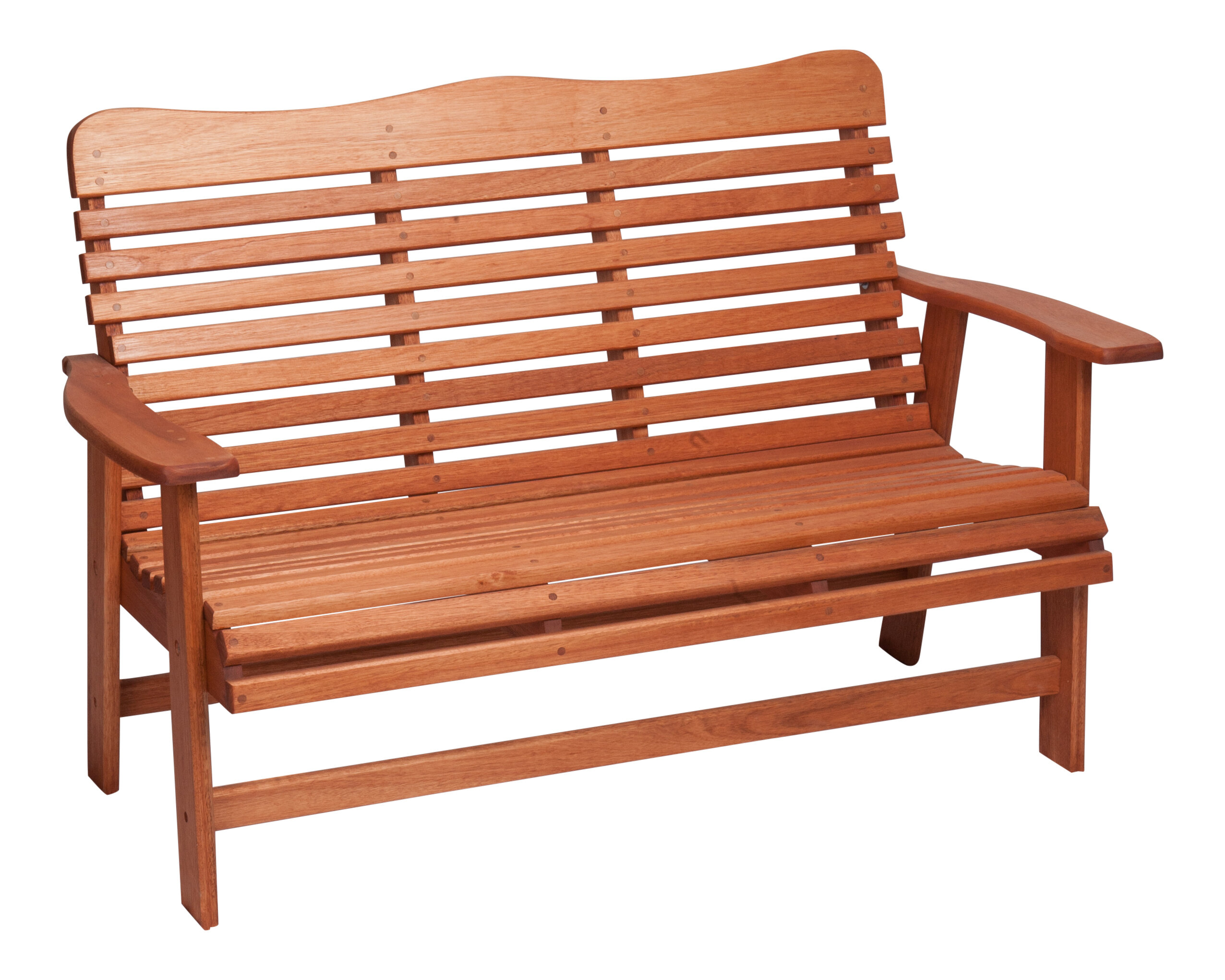 Hinkle Chair Company Red Grandis Wood Garden Bench | Wayfair