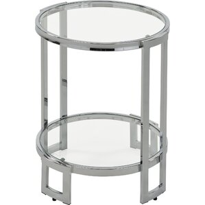 Jenny Glass And Metal End Table