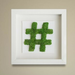 e13449de51c Moss Hashtag Live Framed Art Wall Décor