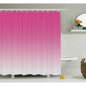 Inspired Digital Hot Pink Design Print Shower Curtain