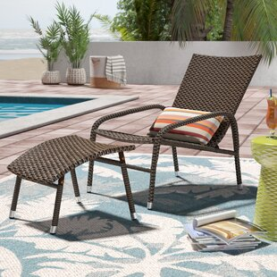 Harmony Lounge Chair with Ottoman & Outdoor Chair With Ottoman | Wayfair