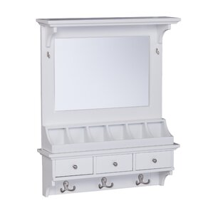 Galilea Over-the-Door Jewelry Armoire with Mirror