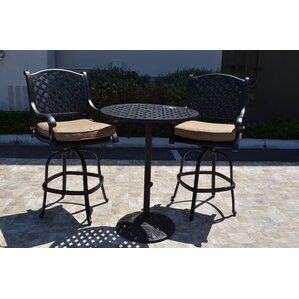 Nola 3 Piece Bar Set by Darby Home Co