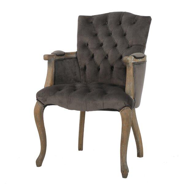 Willa Arlo Interiors Barletta Velvet Arm Dining Chair U0026 Reviews | Wayfair