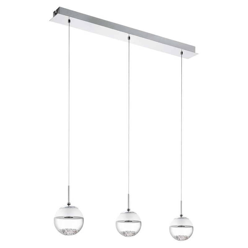 Eglo Montefio 1 3-Light LED Kitchen Island Pendant