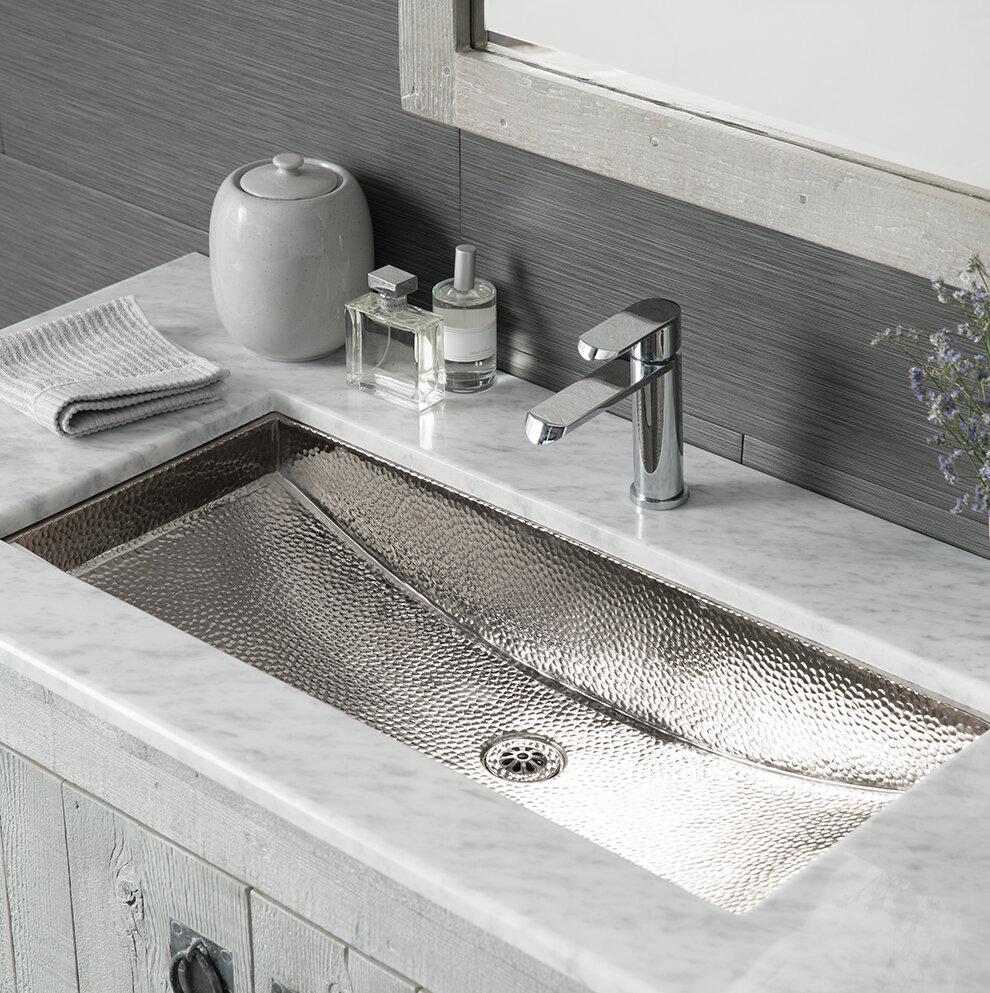Native trails trough metal rectangular undermount bathroom sink wayfair