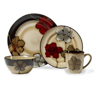 Painted Poppies 16 Piece Dinnerware Set Service for 4  sc 1 st  Wayfair & Gallery Poppy Dinnerware | Wayfair