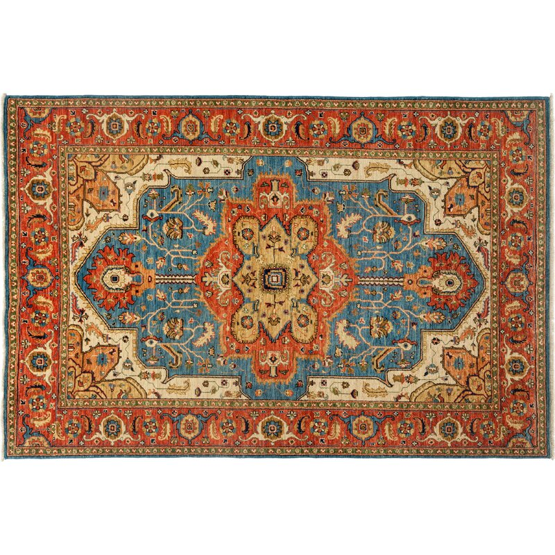 Solo Rugs One Of A Kind Ziegler Hand Knotted Red Area Rug Perigold