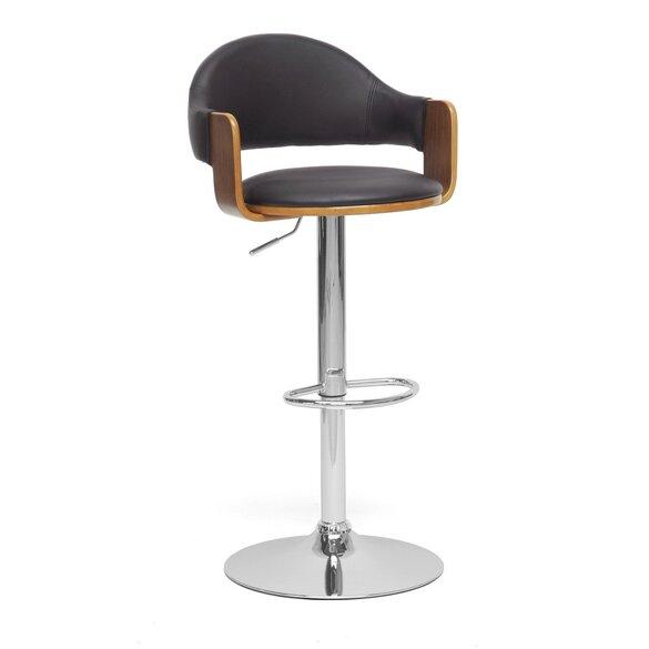 Brilliant Baxton Studio Adjustable Height Swivel Bar Stool Uwap Interior Chair Design Uwaporg
