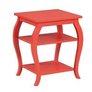 Molina End Table. Hazelnut. Hazelnut. Orange