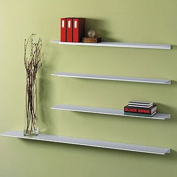 Peter Pepper Envision Aluminum Floating Wall Shelf Reviews Wayfair Classy Where To Buy Floating Wall Shelves