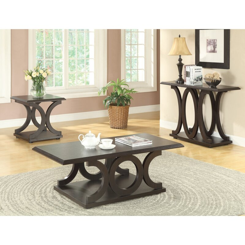 Red Barrel Studio Adaline 3 Piece Coffee Table Set