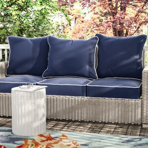 Ginsberg 6 Piece Indoor/Outdoor Sunbrella Piped Sofa Cushion Set