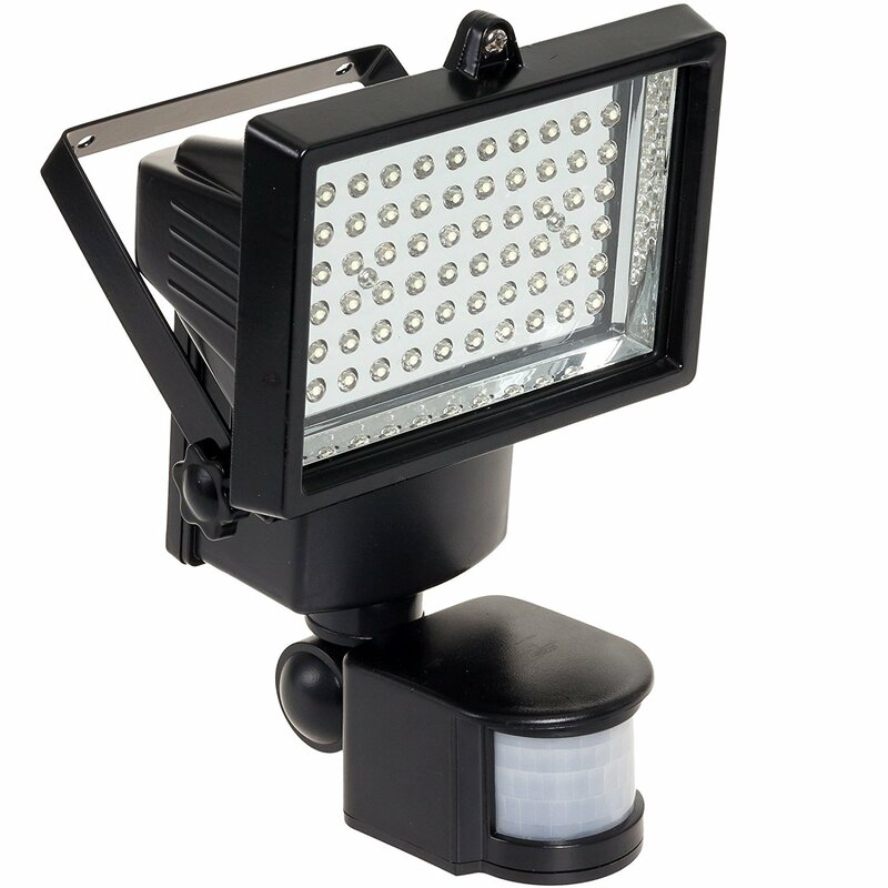 Nature Led Solar Ed Battery Operated Outdoor Security Flood Light With Motion Sensor Reviews Wayfair