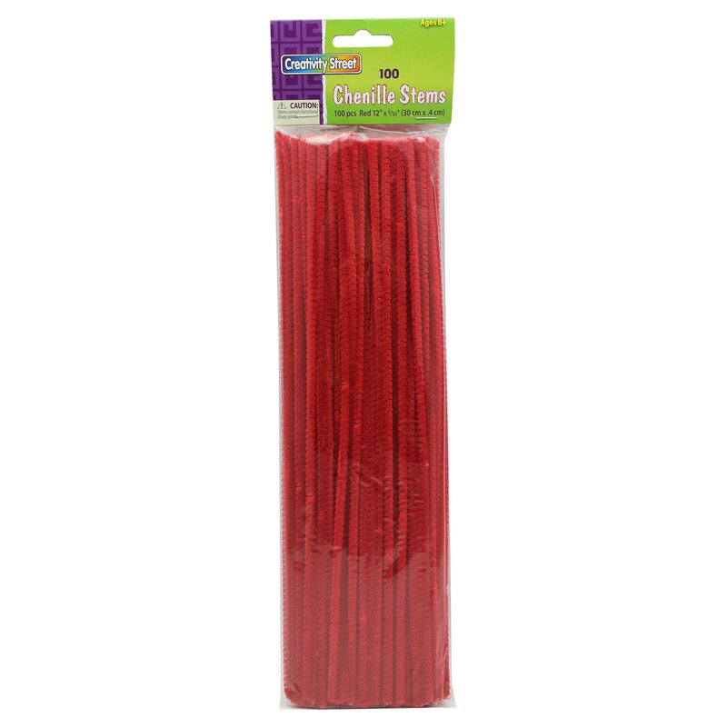 Chenille Stems Red 12 Inch