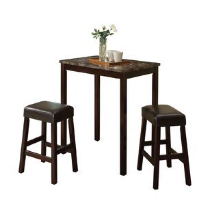 Krupp 3 Piece Counter Height Dining Set