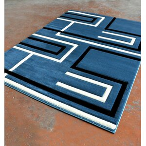 Blue/Black Area Rug