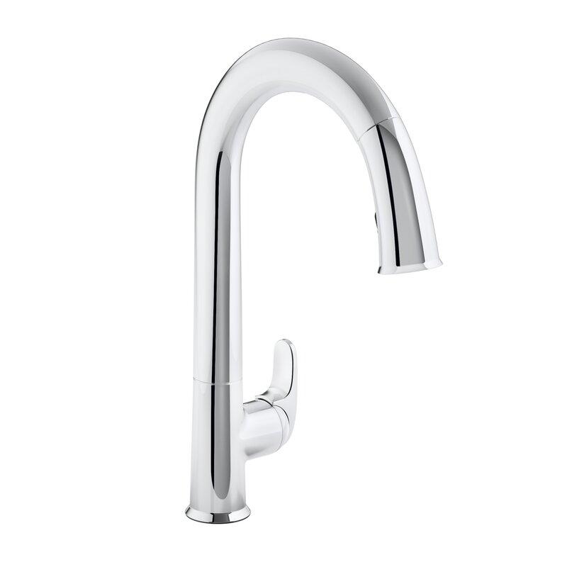 K-72218-2BZ,CP,VS Kohler Sensate Touchless Kitchen Faucet with 15 ...