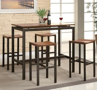 Mercury Row Mcgonigal 5 Piece Pub Table Set Wayfair