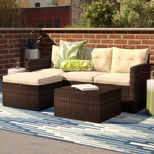 Waterproof Garden Furniture Synthetic waterproof outdoor furniture wayfair icarus 3 piece sofa set with cushions workwithnaturefo