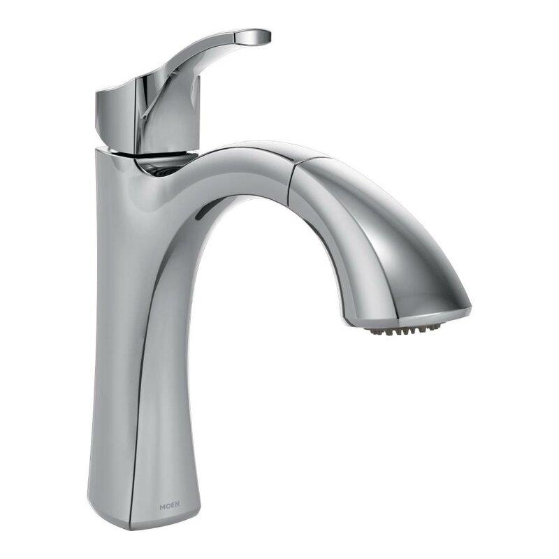 defaultname moen voss single handle kitchen faucet u0026 reviews wayfair