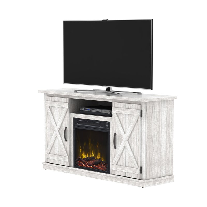 laurel foundry modern farmhouse geremia tv stand for tvs up to 55 rh wayfair com 55 inch corner tv stand with fireplace 55 inch corner tv stand with fireplace