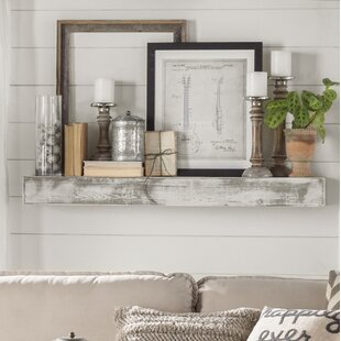 Genial Floating Shelf In Shabby White Solid Wood Handmade Rustic Style Shelf