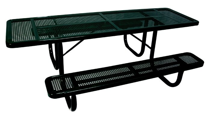 Ultra Play Extra Heavy Duty ADA Picnic Table With Perforated Pattern - Ada picnic table requirements
