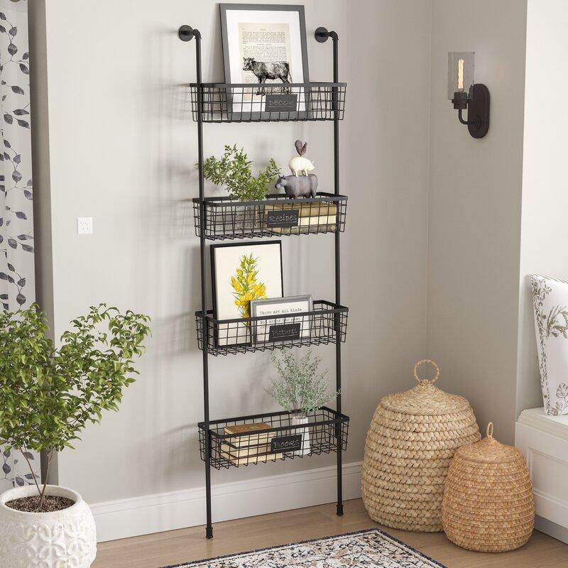 Oronoco 26 X 77 10 4 Tier Wire Basket Wall Shelf