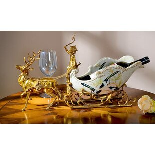 Classical Sleigh Deer Porcelain 1 Bottle Tabletop Wine Bottle Rack Reviews
