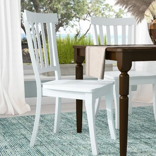 Zeinab Slat Back Solid Wood Dining Chair (Set of 2)