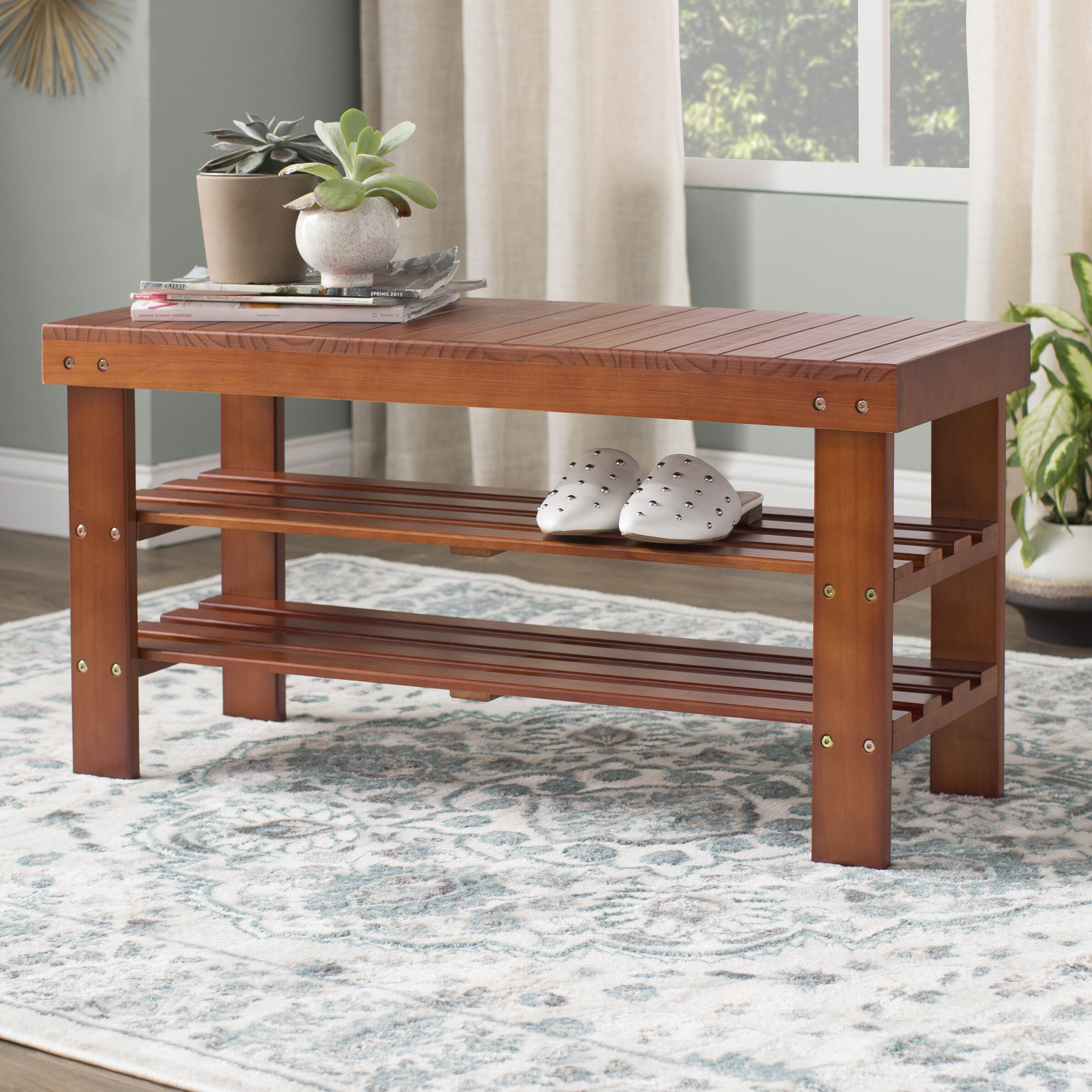 Large Storage Bench For Outdoor And Indoor Space Andover Mills Theiss Wood Storage Bench U0026 Reviews | Wayfair