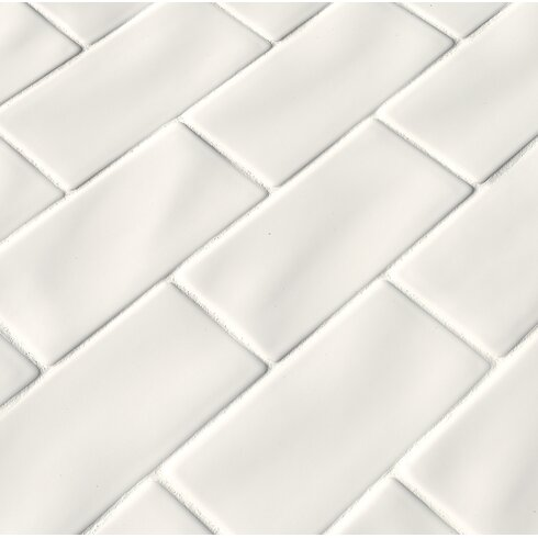 Msi 3 X 6 Ceramic Subway Tile In Whisper White Wayfair