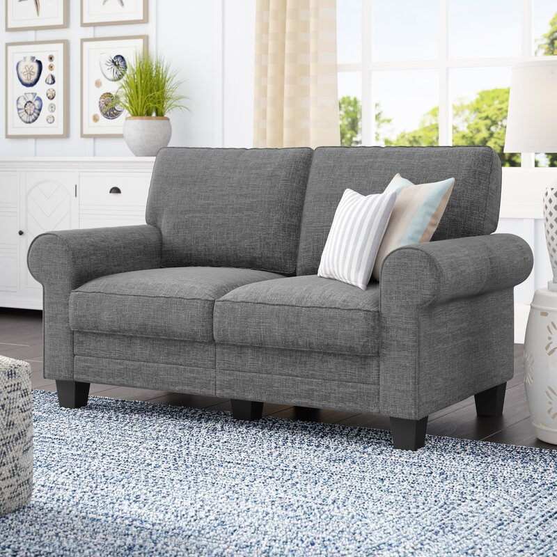 Beachcrest Home Buxton 61 Quot Rolled Arm Loveseat Amp Reviews