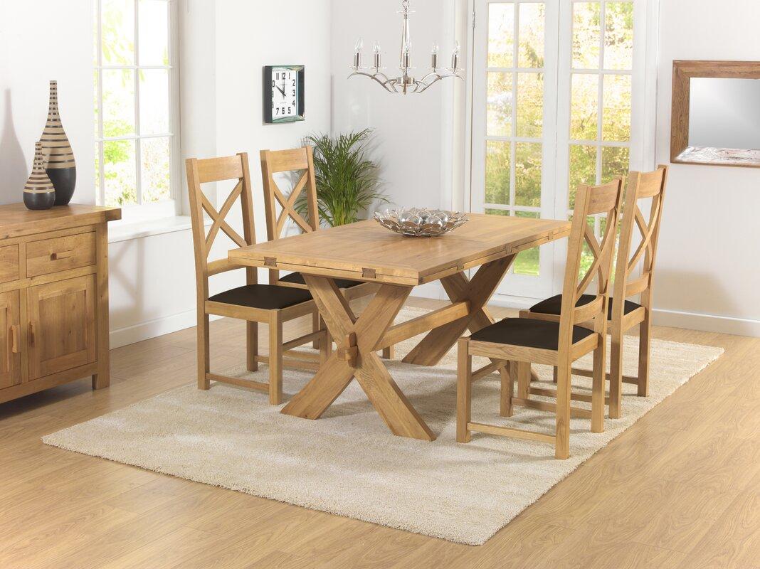 Home Etc Essgruppe Rochelle mit ausziehbarem Tisch und 4 Stühlen ...