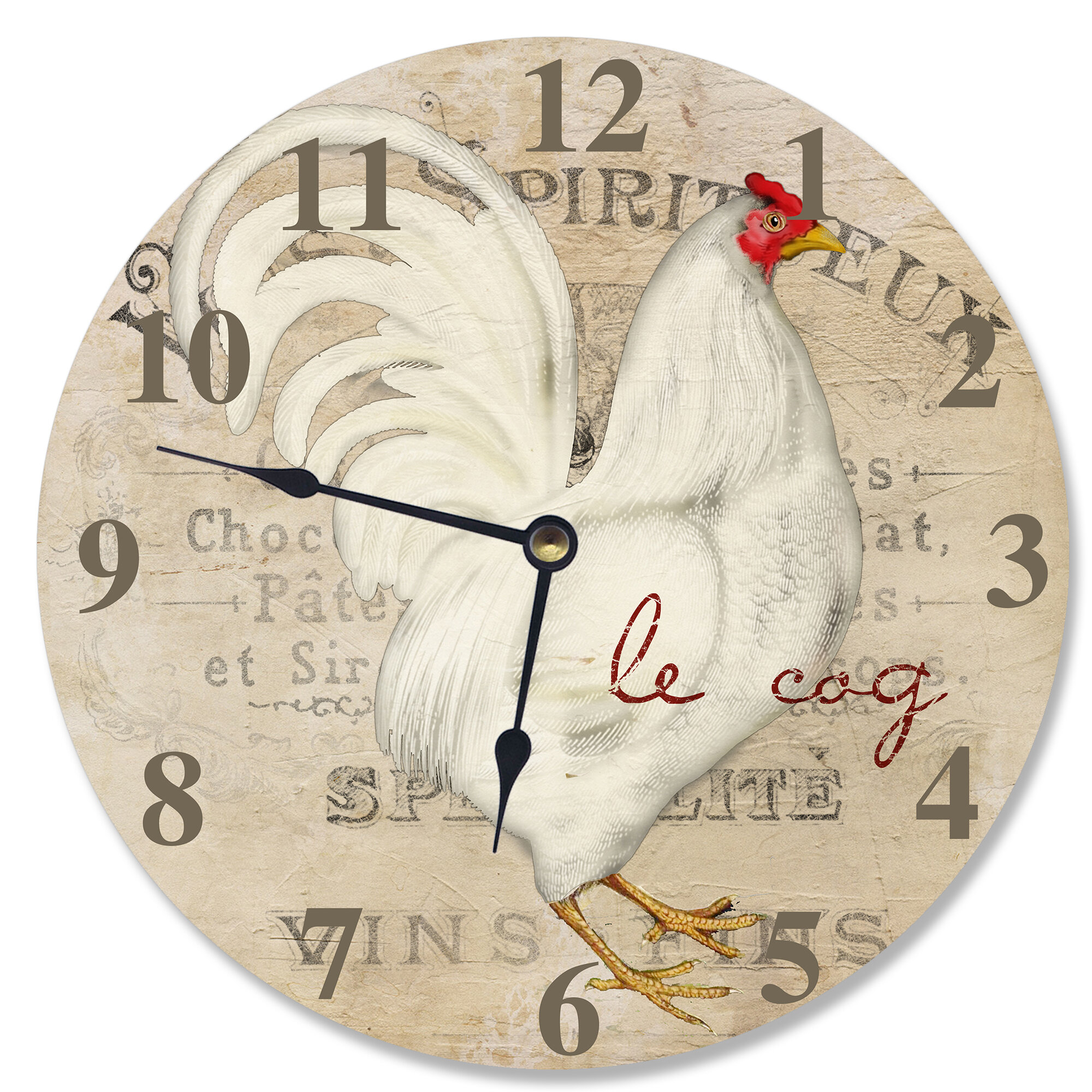 Remarkable 12 Le Coq Rooster Vanity Clock Download Free Architecture Designs Rallybritishbridgeorg