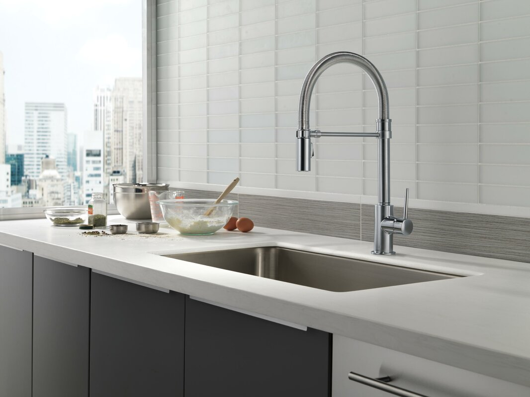 delta trinsic single handle pull down kitchen faucet with spring default name