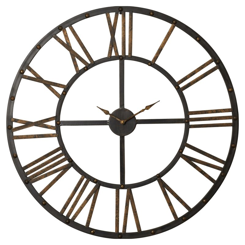 Oversized Round Wall Decor : Exeter round oversized wall clock reviews joss main