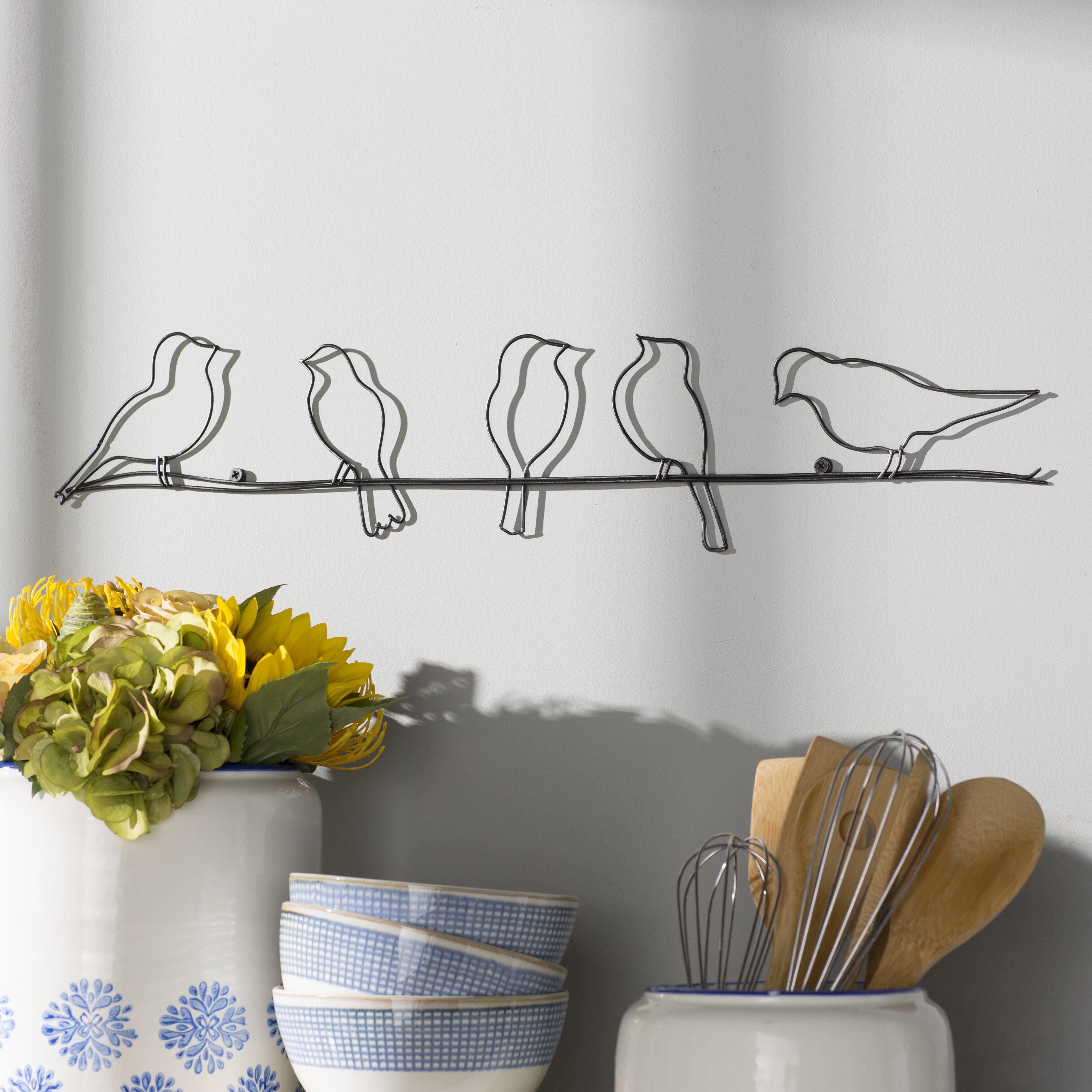August grove rioux birds on a wire wall décor reviews wayfair