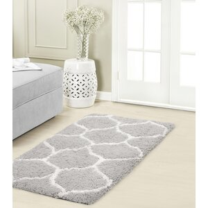 Alfred Chunky Shag White/Gray Area Rug