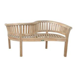 Curve Teak Garden Bench