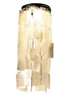 Capiz shell chandelier wayfair 86cm capiz shell novelty lamp shade mozeypictures Images