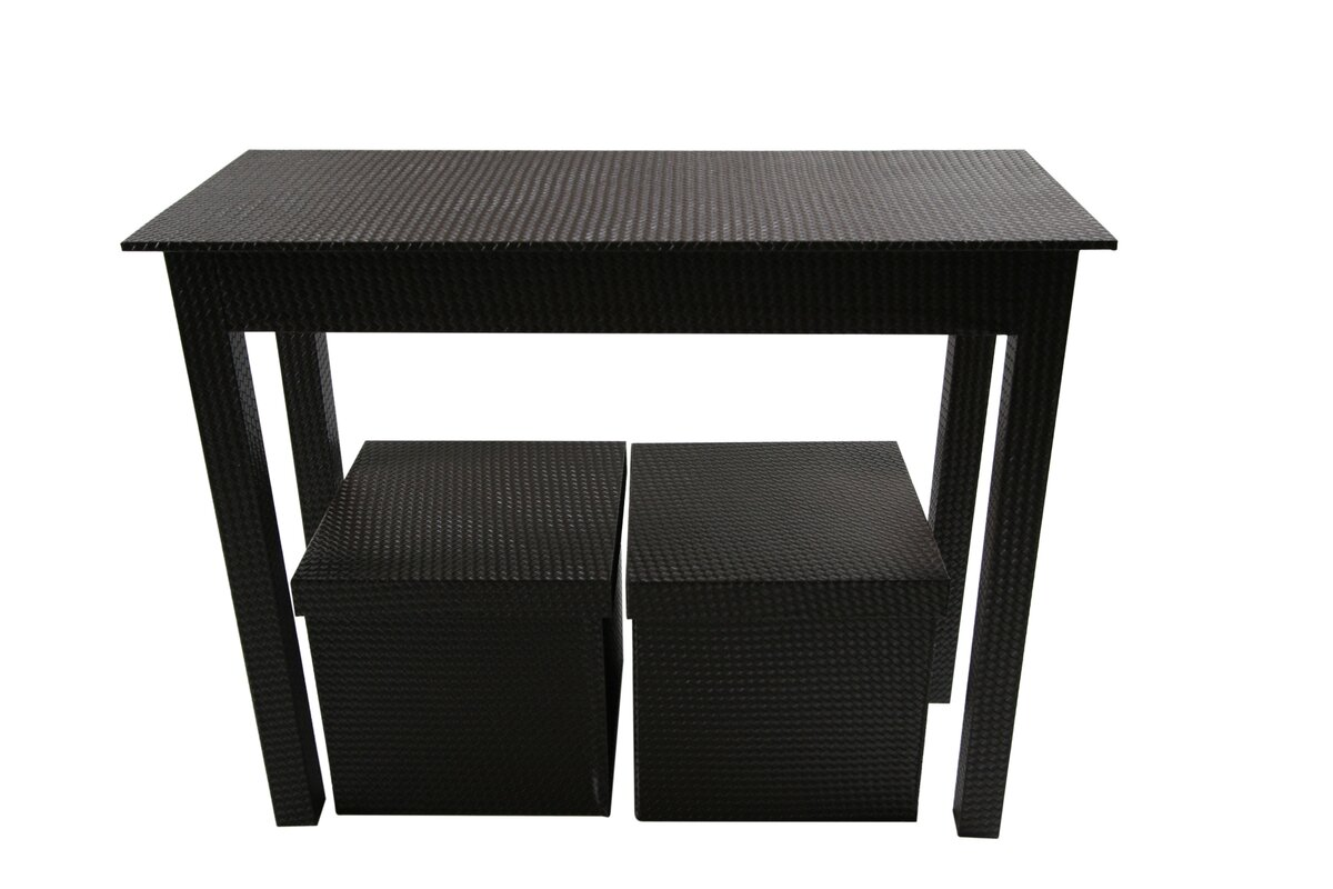 Upscale designs by ema 3 piece console table set wayfair 3 piece console table set geotapseo Image collections